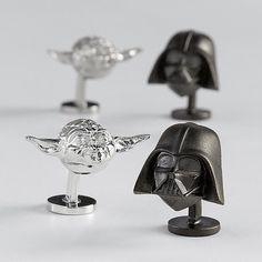 Star War Yoda and Darth Vader cuff links