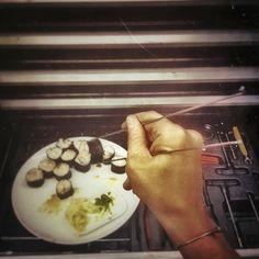 no chopsticks? No problem! Chopsticks, Sushi, Ice Cream, Desserts, Instagram Posts, Food, Sherbet Ice Cream, Meal, Deserts