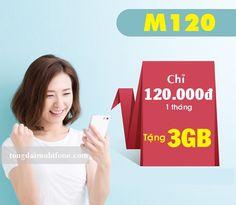 Đăng ký gói M120 Mobifone miễn phí 3GB dung lượng