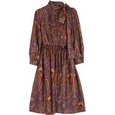 DKNY Nathalia paisly dress | NET-A-PORTER.COM ($375) found on Polyvore