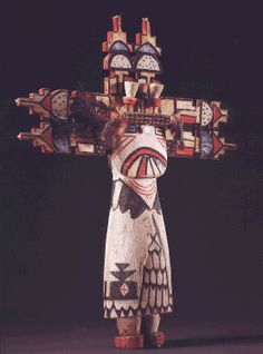 Hopi polychrome wood kachina doll, 17 inches high, Sotheby's 1999