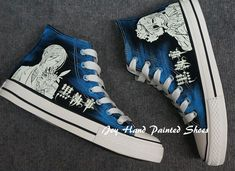 Glow in the Dark Black Butler Anime Painted Shoes