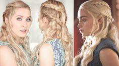 Game of Thrones hair tutorial: Khaleesi/Daenerys braid hairstyle