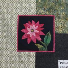 Nov 30 - Dahlia Hand Appliqué  www.sergesew.com Hand Applique, February 2016, Dahlia, Flag, Hands, Art, Art Background, Kunst, Science