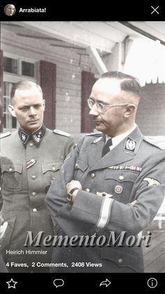 Himmler, the brother of Hitler was having a discussion with Roumel
