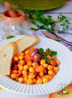 Cocina con Ana: GARBANZOS CON BACALAO Y CAPONATA DE VERDURAS