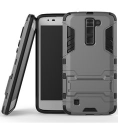 LG K7 Case / LG Tribute 5 Case,DIOS CASE(TM) Light Duty Ultra Slim Fit Rugged Hybrid Dual Layer Hard Armor Detachable Full Body Protective Kickstand Case Cover for LG K7 / LG Tribute 5 (Gray) >>> Be sure to check out this awesome product.