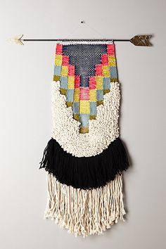 Handwoven Arrow Tapestry, Medium - anthropologie.com #anthrofave