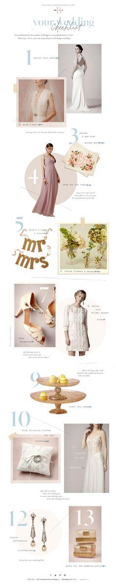 BHLDN | Anthropologie Weddings | Wedding Checklist | December 2013 | Design | Email | Editorial