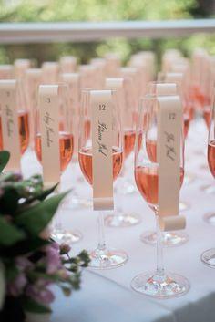 Featured Photographer: Eli Turner Studios; Wedding reception place card idea.