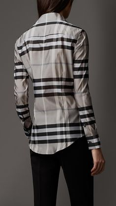 Check Silk Blend Shirt | Burberry