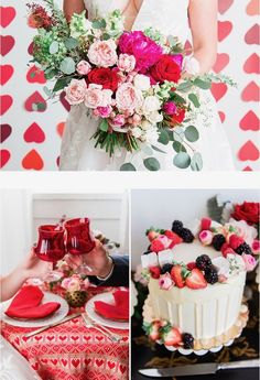 Love is in the air! Here are some of our Valentine's Day inspirations for our February Brides!