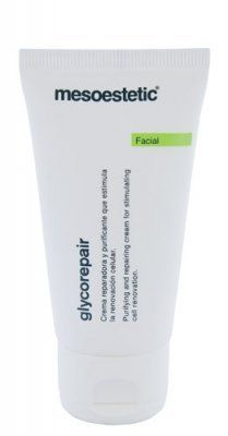Mesoestetic Glycorepair 50mL by Mesoestetic. $56.99. Promotes recovery of hydration in dry, damaged skin.. Great for day and night use.. Recommended for sun damage, outdoor active patients with keratosis like conditions.. Mesoestetic Glycorepair is a repairing and revitalizing gel for dry and damaged skin.. Causes cellular renewal and elimination of superficial corneocytes leaving the skin bright, healthy and velvety. Mesoestetic Glycorepair is a repairing and revitalizi...