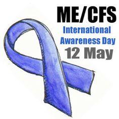 #May 12 is International #ME/#CFS #Awareness Day! #Blue #Gold #DisabilityNinjas #ChronicFatigue #Myalgic #Encephalomyelitis