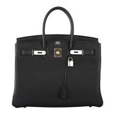 Forever Beauty Hermes Birkin Bag Black 35cm Palladium  As always, another one of my fab finds, Hermes 35cm Birkin Bag in beautiful forever in style BLACK CLEMENCE LEATHER. THE BAG IS ABSOLUTELY STUNNING IN 35CM, IT IS A TRUE JANEFINDS! This bag comes with lock, keys, clochette, a sleeper for the bag box and ribbon. The bag is brand new. ($24,995)