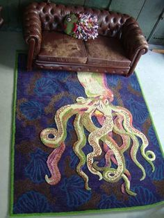 My new place has hardwood, so I pretty much need this octopus rug.