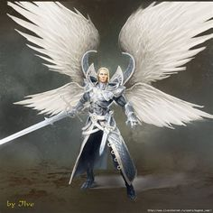 Archangel Uriel Brings Us His Advanced Silver Flame Archangel Uriel, Archangel Michael, Angels Among Us, Angels And Demons, Fantasy Male, Fantasy World, Male Angels, Angel Warrior, Ange Demon