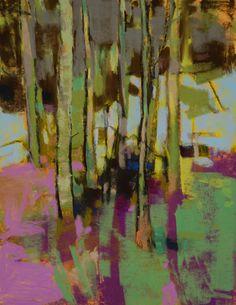 Alders on Winter Ground by Casey Klahn