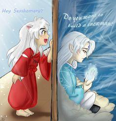 frozen inuyasha crossover (Omg that's so cute )