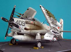 A-1H Skyraider by Rolando Raffaut (Tamiya 1/48). Models, Paints, Figures, and Detail Kits  like these are found for the best prices @ hobbylinc.com
