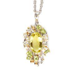 Anhänger mit Lemonquarz Pendant Necklace, Drop Earrings, Jewellery, Sapphire, Stones, Silver, Schmuck, Jewels, Drop Earring