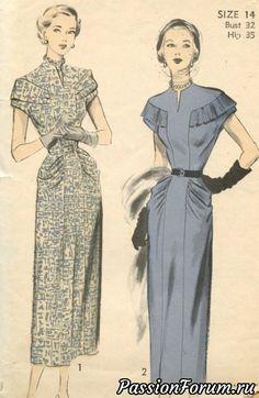 Moda Vintage, Vintage Mode, Vintage Style, 1940s Fashion, Look Fashion, Trendy Fashion, Vintage Fashion, Fashion Sewing, Fashion Brands