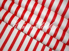 Červený proužek 100% bavlna