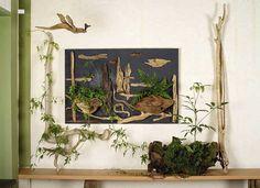 流木で描く山水画 2015年 流木アートー1