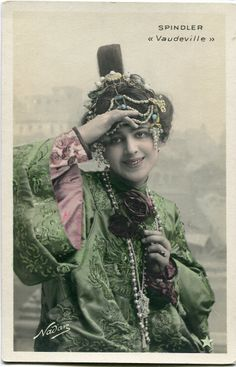 Vintage French RPPC Postcard Actress Stage Star Miss Spindler 2 | eBay