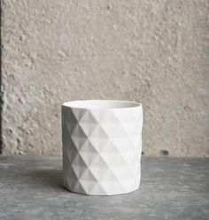 Tealight Holder Hexogram Porcelain