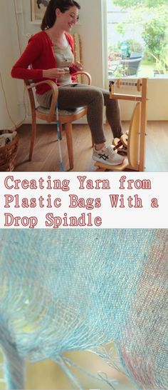 Creating Yarn from Plastic Bags With a Drop Spindle - Homesteading - The Homestead Survival .Com