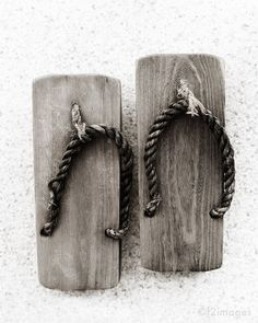 I actually had to wear these in Japanese ladies rooms. My feet are twice as big as these wooden sandals ,so I was in danger of falling into the hole in the ground. Fun.
