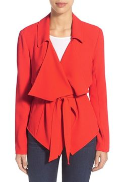 Vince Camuto Belted Drape Front Jacket (Regular & Petite) available at #Nordstrom