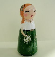 Hand Painted Love Boxes Irish Leprechaun Doll Wood by handpaintedloveboxes 40.00 dollars per doll