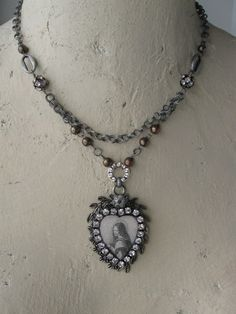 Mary's Song vintage assemblage necklace by OhMyGypsySoul on Etsy, $54.00