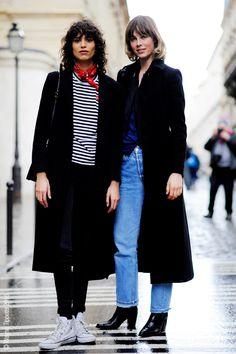 Paris Fashion Week, Autumn Winter Ready to Wear Season, 2016. Mica Arganaraz + Edie Cambell March 26th, 2016