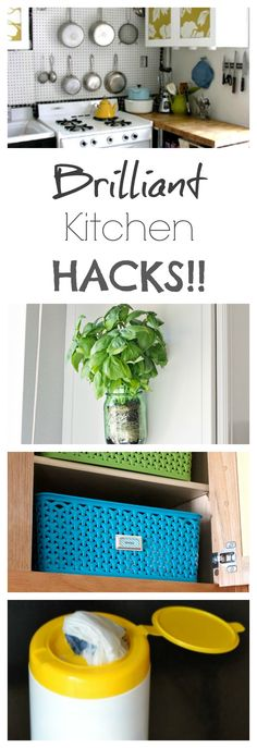 I LOVE kitchen hacks! These make my life easier...This site also has hundreds of other tutorials and tips on painting anything in or outside of your home!  A must REPIN for DIYers