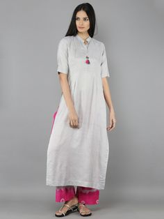 "Size Chart (In inches) - These are garment measurements. Length of the Kurti is 50"". Length of the Palazzo is 38"". XS - Chest : 33.5, Waist : 28, Hip : 36, Shou"