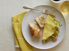 Cheese Omelet With Zucchini And Red Onion
