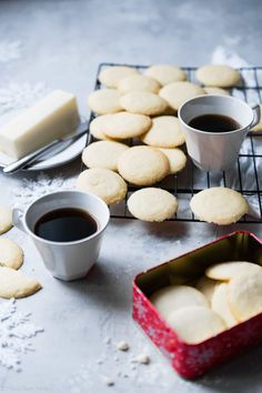 These Paleo Whipped Gluten Free Shortbread Cookies melt in your mouth and are only 60 calories! Secretly sugar free, healthy and vegan/keto friendly too! Easy Shortbread Cookie Recipe, Gluten Free Shortbread Cookies, Chocolate Shortbread Cookies, Chewy Sugar Cookies, Buttery Cookies, Shortbread Recipes, Easy Cookie Recipes, Milk Recipes, Keto Recipes