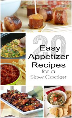 20 Easy appetizer recipes for a slow cooker via GrowingUpGabel.com are perfect for your Super Bowl party!
