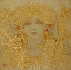 羽化する髪 (?Hairdresser Feathers), by Masaaki Sasamoto (Japanese, born in 1966), 2009