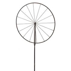 Bike Wheel Trellis Garden Stake