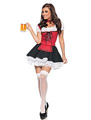 Fairytale+Maid+Costumes+Oktoberfest/Beer+Cosplay+Costumes+Party+Costume+Female+Festival/Holiday+Halloween+Costumes+Red+Black+Halloween+–+CAD+$+73.81