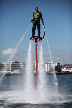 Water jet packs, so exciting!!!