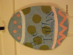 Burlap Easter Egg...Can be personalized!!!
