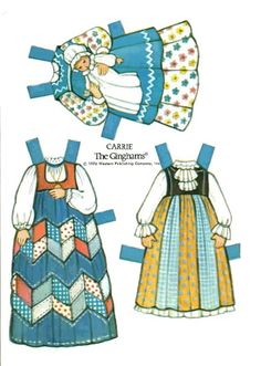 The Gingham Carrie's Clothes 1  (Carries Bedroom)