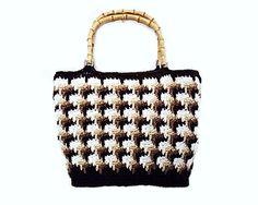Crochet Tote Bag Large Handbag Brown Tote Bags and by SineadNodi