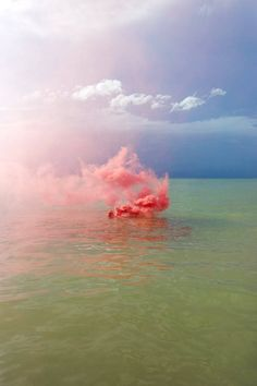 "Italian photographer Filippo Minelli explores the dynamic silent beauty of nature in series ""Silence/Shapes."" He expresses its essence and spirit through the medium of smoke bombs to communicate nature's visibility through an abstract form. Minelli asserted said conceptual thought in a series of landscape sceneries in Europe."