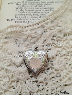 Mother's I LOVE YOU Heart Shaped Locket by VintageJewelryJunque